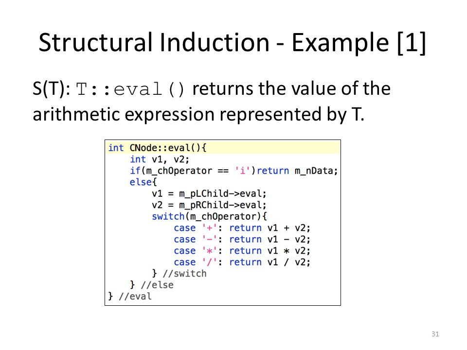 Structural Induction - Example [1]